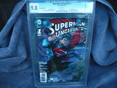 Superman Unchained #1 3-D Cgc 9.8 Variant Cover