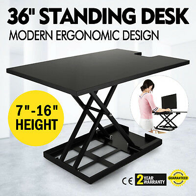 "36"" X-Elite Table Lift Sit/Stand Standing Desk Larger Version Table Dual monitor"