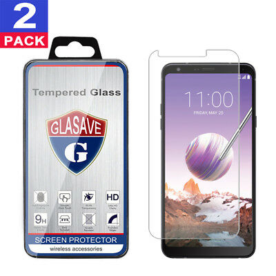 (2 Pack) GLASAVE Tempered Glass Screen Protector For 2018 LG Stylo 4