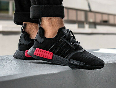 finest selection 9166f bb744 adidas NMD R1 Black Red Bred BOOST Mens Sneakers Trainers Shoes 6 - 12 39 -