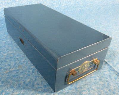 Vintage American Mutual Insurance Policy Metal Combination Box Made in USA