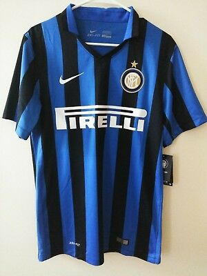 08a471df 2015/2016 Mens Nike Dri-Fit Inter Milan Authentic Soccer Team Jersey Small