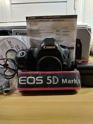 Canon EOS 5D Mark III DSLR Camera - Black (Body + Grip + CF card + Box)