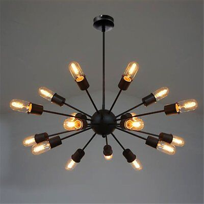 Vintage Industrial Pendant Ceiling Sputnik Edison Lamp Light Chandelier 18 Heads