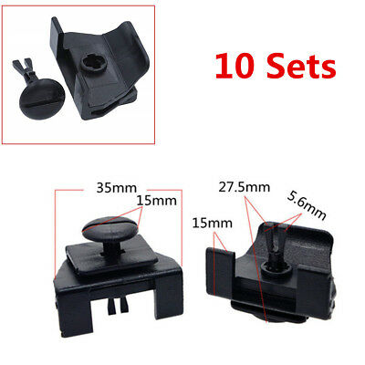 For Toyota Camry Corolla Lexus Prius 10 Set Front Fender Bumper Cover Clip Kits