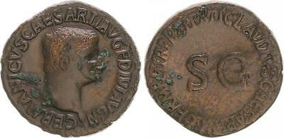 As 15v 19 N. Chr. Antique/Roman Empire/Caligula Ss
