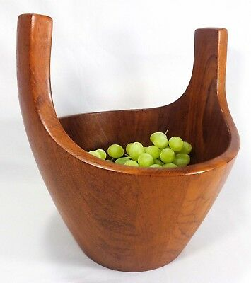 Jens Quistgaard Dansk Denmark Vint Teak Viking Sculpted Turned Fruit/salad Bowl