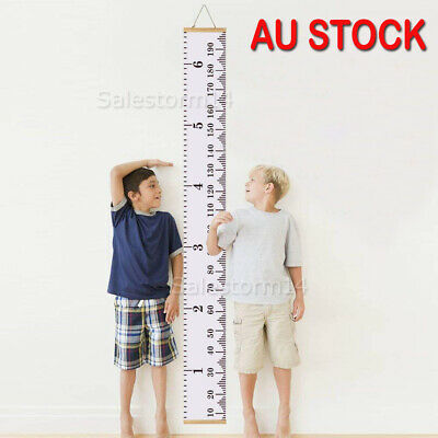 Wooden Kids Growth Chart Children Arrow Wall Hanging Height Measure Ruler AU