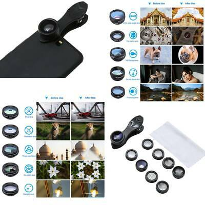 10 Cell Phone Camera Lens Kit Wide Angle Lens Macro for iPhone Most Smartphone