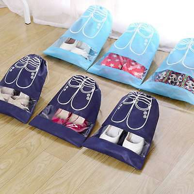 Home Laundry Shoe Travel Portable Pouch Tote Drawstring Storage Bag Organizer
