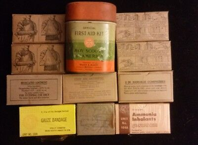 Vintage BSA Boy Scouts of America Offical First Aid Kit Bauer & Black + EXTRAS