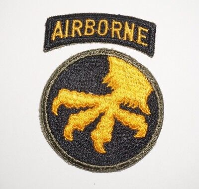 17th Airborne Division With tab Patch WWII US Army P7943
