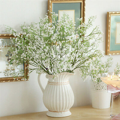 20 pcs Artificial Fake Gypsophila Silk Flowers Bouquet Home Wedding Party Decor