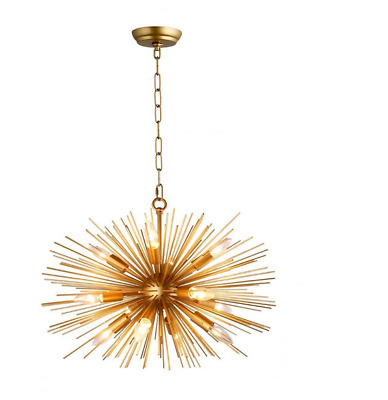 "24"" Astra Sputnik Satellite Pendant Light Gold Spike Chandelier Starburst Lamp"