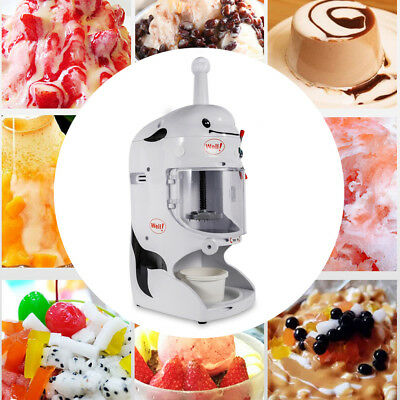 Snow Cone Machine Electric Shaved Ice Maker Ice Shaver Shaving Crusher 110v 350w