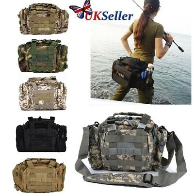 Fishing Tackle Bag BagPack Waist Shoulder Waterproof Reel Lure Gear Storage Gift