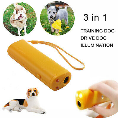 2x Anti Barking Ultrasonic Stop Training Repeller Control Trainer Device For Pet