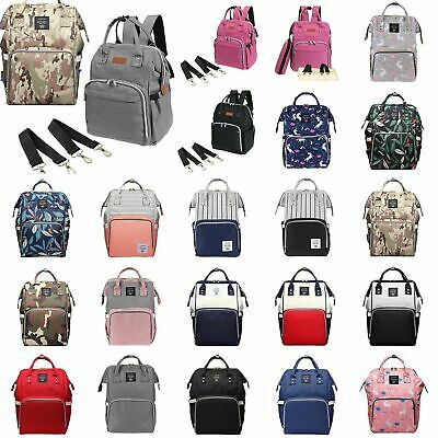 Large Luxury Multifunction Baby Diaper Nappy Backpack Mummy Changing Travel Bag