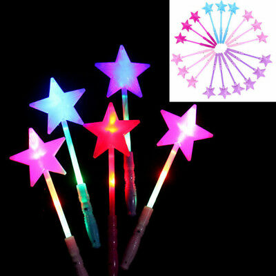 LED Magic Star Wand Flashing Lights up Glow Sticks Party Concert Christmas New