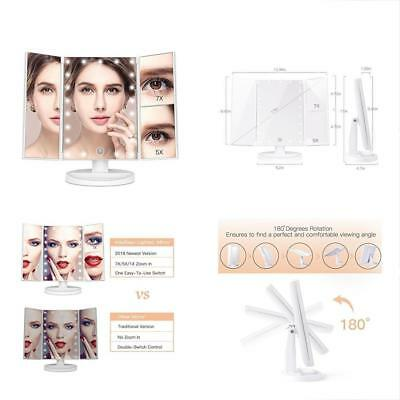 KingKKong Makeup Vanity With 21 LED Lights - 3X/2X Magnifying Mirror Touch Dual