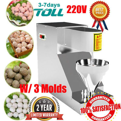 Automatic Meatball Making Machine Stainless Steel Beef Maker 3 Molds 280pcs/h AU