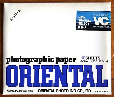 ORIENTAL RP-F Variable Contrast B&W Photographic Paper 20x25cm 10 Sheets NOS