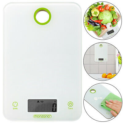 Monzana® Küchenwaage Briefwaage Feinwaage Digitalwaage weiß digital 8 kg/1g Tara