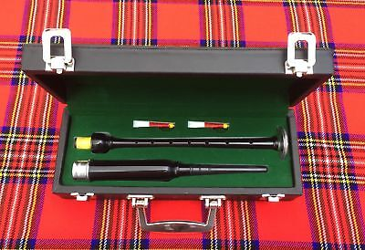 Scottish Highland Rosewood Silver Mounts Practice chanter+ carrying box/chanter