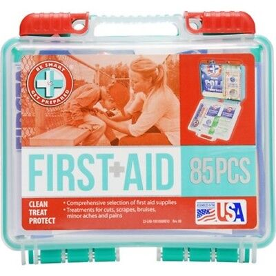 First Aid Kit 85 Count Help Protect Health Care Be Smart Get Prepared Compact
