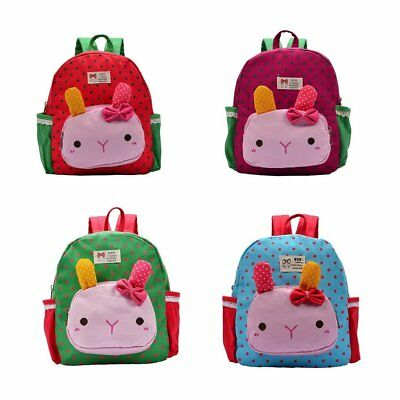 Lovely Rabbit Cartoon Printed Children Backpacks Kindergarten School Bag CM