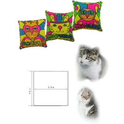 Classic Pet Cat Puppy Cartoon Printed Toys Catnip Kicker Pillow Pouch Toy Tools