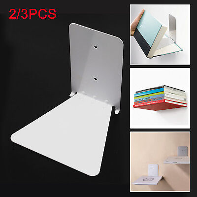 2/3pcs Invisible Bookshelf Wall Mounted Floating Book Shelf Shelves Storage