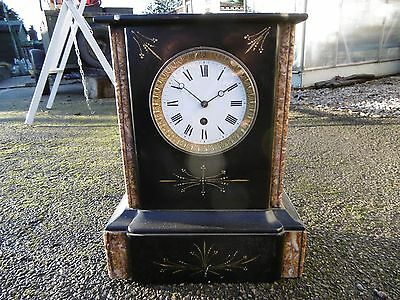 Japy Freres Victorian French Marble Case Mantle Clock