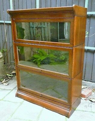 Antique Oak Stacking Bookcase Globe Wernicke style Glazed Cabinet Storage