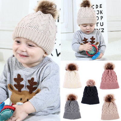 Kids Baby Toddler Girl&Boy Infant Winter Warm Chunky Crochet Knit Hat Beanie Cap