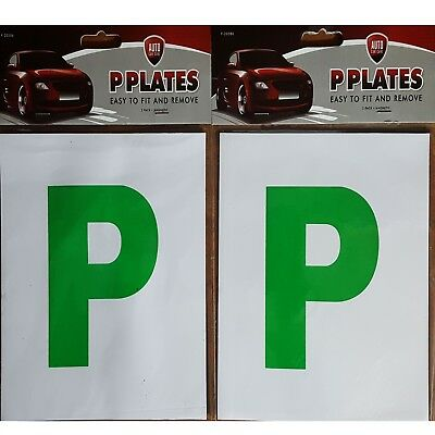 2 P Plates easily removable Magnetic Car New Pass Signs