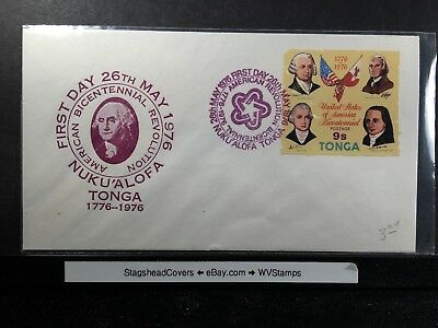 Tongo FDC 26 May 1976 US Bicentennial 1776-1976 Washington Nuku'alofa