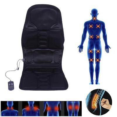 8 Motor Massage Car Seat Cushion Back Relief Chair Pad Heated Lumbar Massager