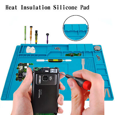 Magnetic Heat Insulation Silicone Pad Mat Platform For Soldering Repair 45x30cm