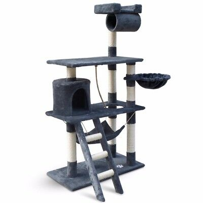 Cat Scratching Post Tree Scratcher Pole Furniture Gym House Toy Small 141cm Grey