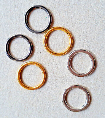 4 Closed Rings Metal for Sport, Top Bikini Bra Straps Colour Size Selection