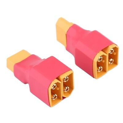Amass XT60 Adapter Converter 2 Male to 1 Female Connector Lipo Battery
