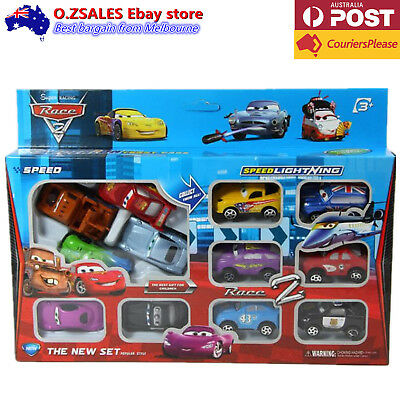 12 pcs Lightning Mcqueen cars set Toy Boys Christmas Gift