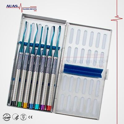 Dental Luxatin PDL Root Elevators Precise Periotomes, Set of 7 Pcs,
