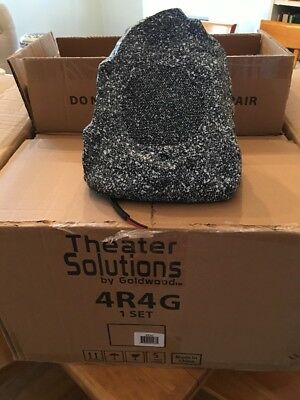 Theater Solutions 4R4G Outdoor Rock Speakers - Gray