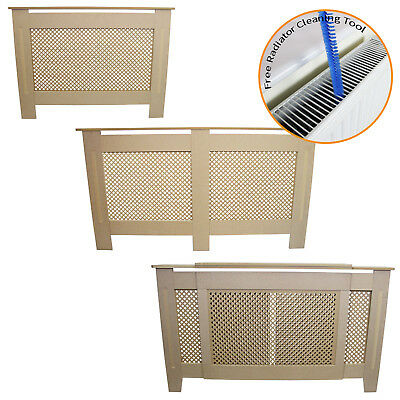 Radiator Covers MDF Wood Un-Finished Trellised Grill Modern Heating Home Cabinet