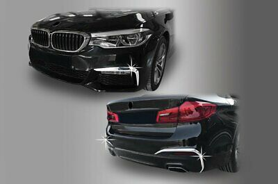 For BMW 5 Series G30 2017+ Chrome Front and Rear Bumper Trim Set