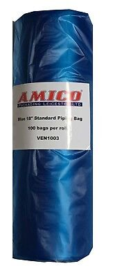 "Strong 18"" Piping Bags Blue Disposable Icing / Cream / Mash / Pastry Large APL"