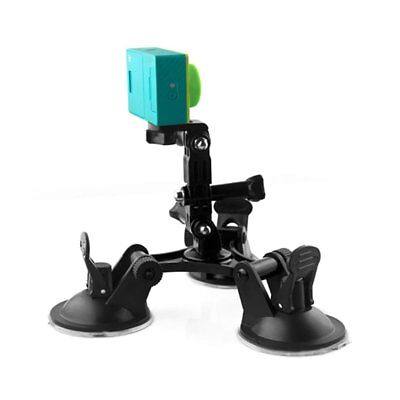 Triple Suction Cup Car Glass Window Mount Camera Holder for Gopro hero4 3+ DM