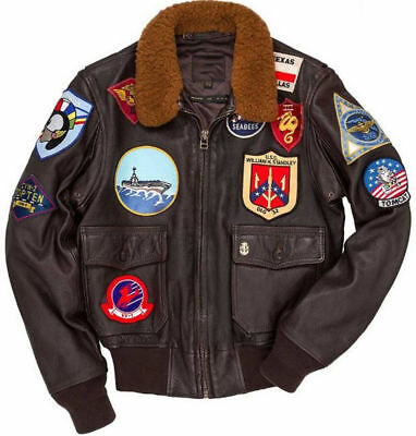 Tom Cruise Pete Maverick Top Gun Flight Bomber Leather Jacket Jet Pilot for men